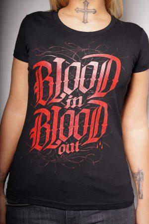 Blood in Blood out – Logo Shirt Girls – CrimeCulture Bochum – CrimeCulture Onlineshop