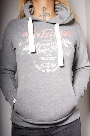 Yakuza Premium Hoodie – GH 2243 Grau – CrimeCulture Bochum – CrimeCulture Onlineshop