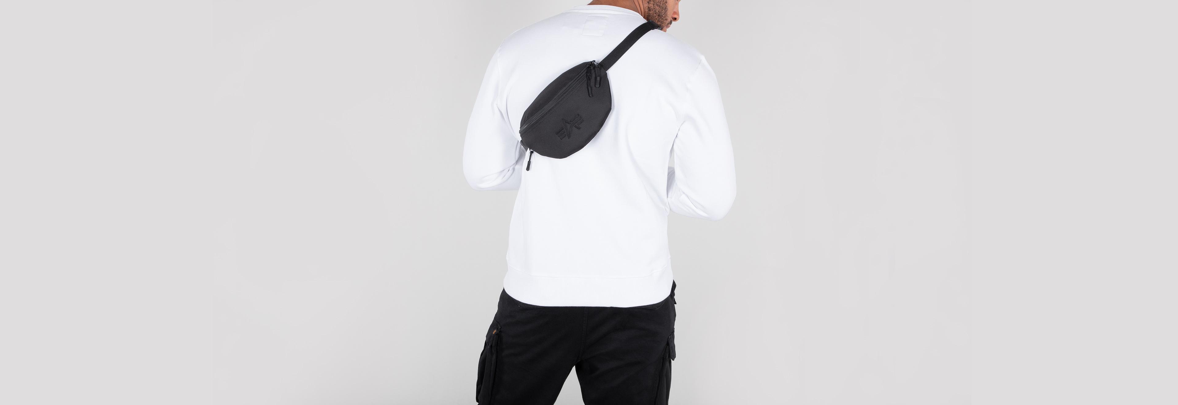 elegant und anmutig heißer Verkauf online verschiedenes Design Alpha Industries Gürteltasche, Waist Bag, Bauchtasche, schwarz