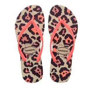 Havaianas Zehentrenner, Sandale, Flip Flop animal/coral Damen