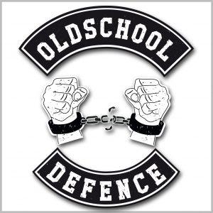 Oldschool Defence Shirt Herren, Logo Shirt, Handschellen