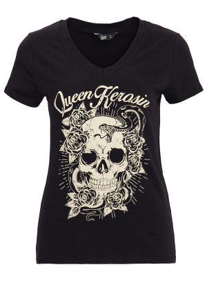 Queen Kerosin Damen Shirt, Skull – CrimeCulture Online Shop-