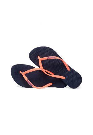 Havaianas Flip Flops, Sandalen, Zehentrenner Kidz blau/orange