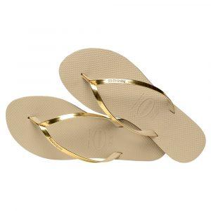 Havaianas Flip Flops, Zehentrenner, Sandalen, Damen gold/metallic