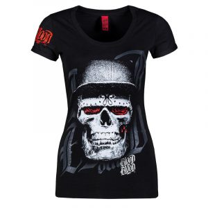Bloodin Blood out Shirt Girlie Top Skull