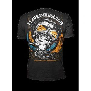 """Oldschool Criminal Shirt – Fledermausland """"fear"""" – schwarz – Crime Culture Online Shop"""