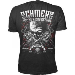 Oldschool Criminal Shirt – Schmerz  – schwarz – Crime Culture Online Shop