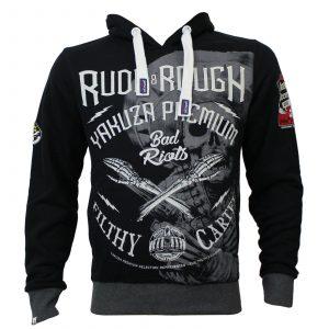 Yakuza Premium Hoodie, Sweater YPH 2621, schwarz